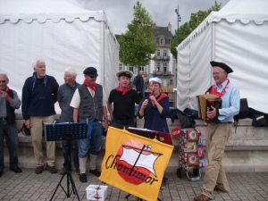 Singing on the quay