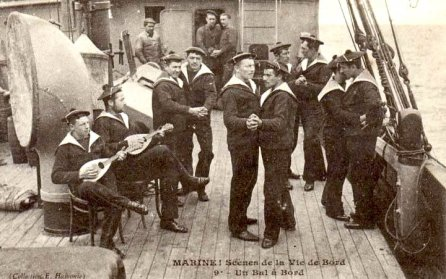 French Sailors dancing
